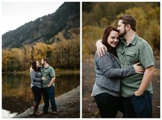 Dalton Point engagement photos in the fall in the Columbia River Gorge. Pictures by Katy Weaver Photography