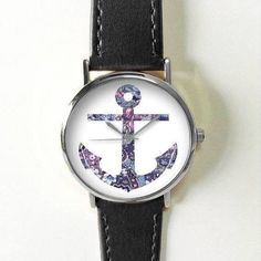 Anchor+Watch+,+Vintage+Style+Leather+Watch,+Women+Watches,+Boyfriend+Watch,+Men's+watch,+Summer, Ships+Worldwide+ Type:+Quartz Wrist+Size:+Adjustable+from+16.75+cm+to+20.75+cm+(6.59+inches+to+8.16+inches) Display:+Analog Dial+Window+Material:+Glass Case+Material:+Metal Case+Diameter:+3.9+c...