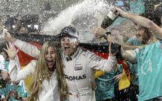 Nico Rosberg tras proclamarse campeón del mundo de Fórmula Uno en...
