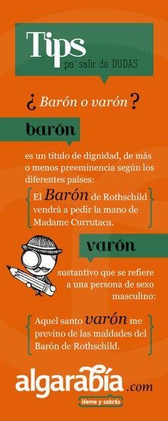 ¿Barón o varón? #tip #lengua #español Más