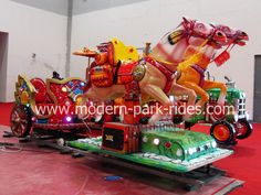 new design horse train rides for sale,each coach can load 2riders.,have different coach to choose.more information please contact me: tel/whatsapp/viber:+8618638110225 sales@zz-modern.com www.modern-park-rides.com www.zz-modern.com