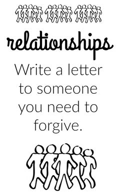 Journal prompt - write a letter to someone you need to forgive