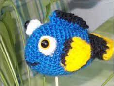 Dory a hal, amigurumi figura kezdőknek Walt Disney, Dory, Crochet Hats, Catania, Pattern, Amigurumi, Boats, Tricot, Knitting Hats