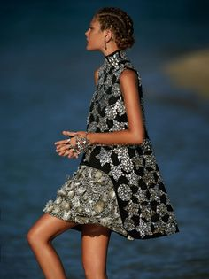 """Catherine McNeil in """"On the Surface"""" by Gilles Bensimon for Vogue Australia, October 2014"""