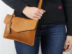 Leather Envelope Clutch Bag from Scaramanga's original and classic leather bag collections Envelope Clutch, Clutch Bag, Classic Leather, Leather Accessories, Leather Bags, Travel Bags, Collections, Stuff To Buy, Leather Tote Handbags