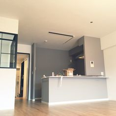 LEOさんの、ブルックリンスタイル,ブルックリン,サンゲツクロス,東リフロアタイル ウッド,キッチン,のお部屋写真