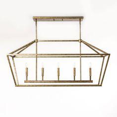 Kenwood Vintage Gold Five Light Linear Pendant 251 First Linear Pendant Lighting Ceiling L