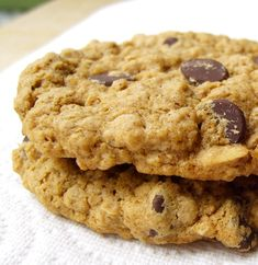 Chocolate Chip Oatmeal Cookies. Vegan, Dairy-Free, Egg-Free, Gluten-Free, Tree Nut-Free, Peanut-Free, Soy-Free, and Wheat-Free