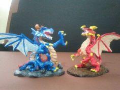 Dragon azul y dragon rojo