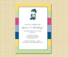 Doljabi invitation for korean dol this is a perfect invite to give korean baby boy girl 1st birthday dol by littleseoulsparty on etsy filmwisefo