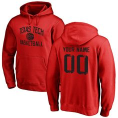 Texas Tech Red Raiders Distressed Basketball Pullover Hoodie - Scarlet - $69.99