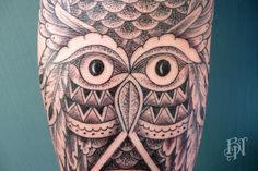 Owl By Jeykill #animal #wood #Leg #flower #indian