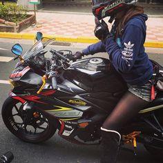 #YAMAHA #ヤマハ #R3 #ヤマハが美しい #yamahar3 #バイク #ライダー #女性ライダー #女子バイク #バイク女子 #女性バイク #姫ライダー #putoline