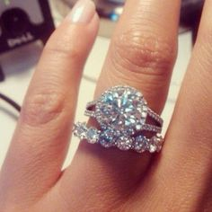 Engagement ring and eternity band