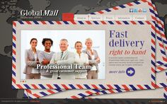 Global Mail Secure Mail Service HTML5 Template by Dynamic Template