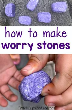 Banish Back to School Worries with Worry Stones How to make and use worry stones with kids! Great for back to school! - Back To School School Age Activities, Counseling Activities, Art Therapy Activities, Learning Activities, Elementary Counseling, School Counseling, Mindful Activities For Kids, Teaching Ideas, Anxiety Activities