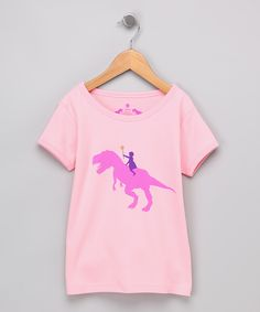 Pink Dino Rider Short-Sleeve Tee - Toddler & Girls   Daily deals for moms, babies and kids