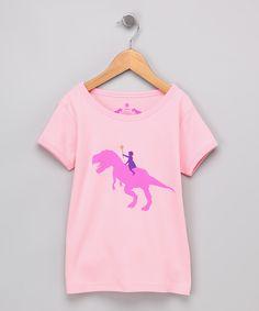 pink dino tshirt