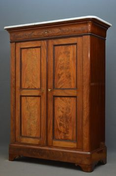 Antique Biedermeier Cabinet reddish tones