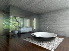 Simple Amaturen design for a round, modern bathtub - Bathroom Project - Bathroom Decor Dream Bathrooms, Beautiful Bathrooms, Master Bathrooms, Modern Bathrooms, Master Bedroom, Modern Bathtub, Bathroom Trends, Bathroom Ideas, Bathroom Designs