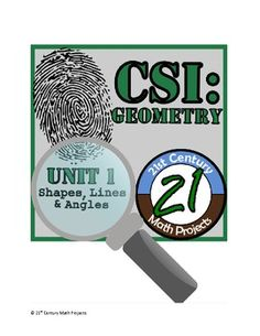 21st Century Math Projects unleashes CSI assignments on Geometry. Turn your math class into a criminal investigation!