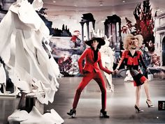 to rome with love: raquel zimmermann and joan smalls by mario testino for us vogue march 2013 | visual optimism; fashion editorials, shows, campaigns & more!