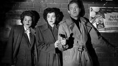 Is Dennis O'Keefe terrified of the gangster Raymond Burr? Or his own love triangle with Marsha Hunt and Claire Trevor? We may never know.