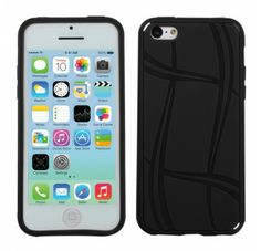 APPLE iPhone 5C Black Basketball Texture Candy Skin Cover
