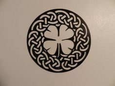 Shamrock  Celtic Knot   Metal Wall Art by SunsetMetalworks on Etsy, $95.00