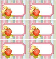 """Voici des jolies étiquettes tout genre et diverses , à imprimer gratuitement , proposé par """" Créations Bilitis """" ! Printable Labels, Printables, Pots, Homemade Stickers, Pineapple, Creations, Strawberry, Fruit, Faith Quotes"""