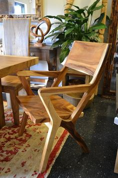 Solid Chamcha Wood Arm Dining Chair