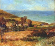View of the normandy coast near wargemont - Pierre-Auguste Renoir