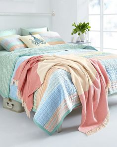 Visby Quilt and Sham adds a beachy feel to any bedroom.