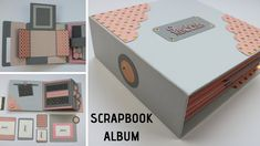 This is my design for hardcover scrapbook album or memory book. It's made in pink and grey combination with gold details and holds around 60 pictures. Mini Albums Scrap, Mini Scrapbook Albums, Wedding Scrapbook, Scrapbook Journal, Large Scrapbook, Baby Scrapbook, Diy Memory Album, Paper Craft Work, Paper Crafts