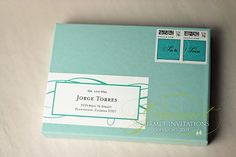 Wrap Around Labels #wedding invitations