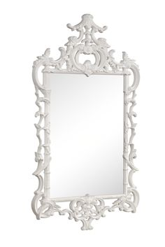 Chippendale Mirror Finished In White Gloss Lacquer - Mirror Image Home | domino.com