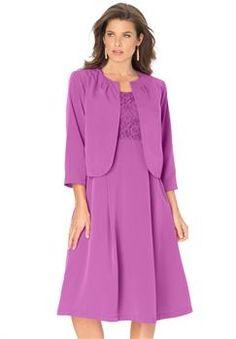 Plus Size Glittery Lilac Georgette Jacket Dress Mother Bride - Plus Size Jacket Dress For Wedding