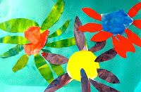 Colorwheel Flowers Art Lesson (Complementary Colors)