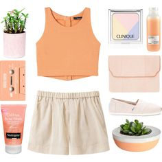 A fashion look from March 2016 featuring Giada Forte shorts, TOMS flats and Baraboux clutches. Browse and shop related looks.
