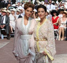 In the top spot is the king's niece Princess Lalla Soukaina shortly followed in third place by her mother, Princess Lalla Meryem, who is his sister – Lalla is an honorific applied to all the ladies of the royal family.     The winner was a vision in a pale pink, traditional kaftan with crystal embellishments.     Complementing the look was a wavy updo, a matching satin clutch and platform heels.