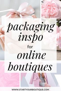 Already have an online boutique or want to start an online boutique? Click through for some packaging ideas for your online boutique. Everything from custom tape, custom poly mailers and custom stickers. Get inspired with these online boutique packaging i Boutique Names, Boutique Etsy, Luxe Boutique, Beauty Boutique, Boutique Stores, Boutique Design, Fashion Boutique, Clothing Packaging, Custom Packaging
