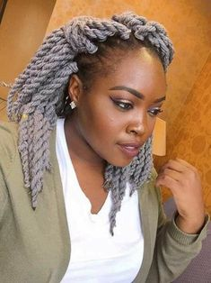 27 Hairstyles with Yarn Braids: Color and Style Ideas 2018 New Natural Hairstyles, Natural Hair Braids, Teen Hairstyles, Trending Hairstyles, Twist Hairstyles, Protective Hairstyles, Black Women Hairstyles, Natural Hair Styles, American Hairstyles
