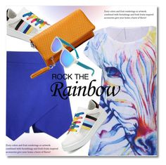 """ROCK THE RAINBOW"" by svijetlana ❤ liked on Polyvore featuring rainbow, polyvoreeditorial and twinkledeals"
