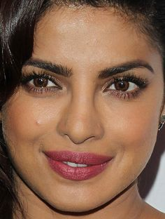 Close-up of Priyanka Chopra at ELLE's 2016 Women in Television celebration. http://beautyeditor.ca/2016/01/27/best-beauty-looks-lily-james