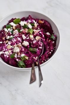Pureed Beetroot with Yogurt and Zaatar via Life Love Food