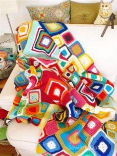 Vivid Dreams blanket by Sewing Daisies