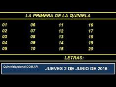 Quiniela Nacional La Primera Jueves 2 de Junio de 2016 www.quinielanacional.com.ar