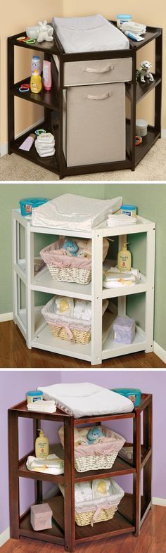 a better changing table. Who decided changing a baby from the side was a good idea!