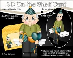 3D On the Shelf Card Kit Little Party Old Man Mason on Craftsuprint - View Now!