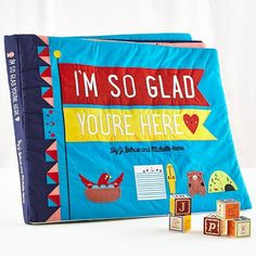 Oversized cloth book brings story time to a whole new level. This colorful book not only features a charming story, but it's also appliquéd and embroidered by hand, making it that much more fun to read. I'm So Glad You're Here Giant Book Ltd 25″Wx22″Dx1.5″H Nod exclusive These enormous, exclusive items are available in limited...